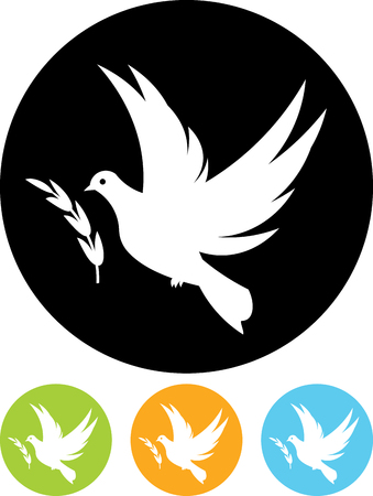 Dove of peace flying vector