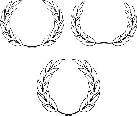 Laurel Wreaths Vector 일러스트