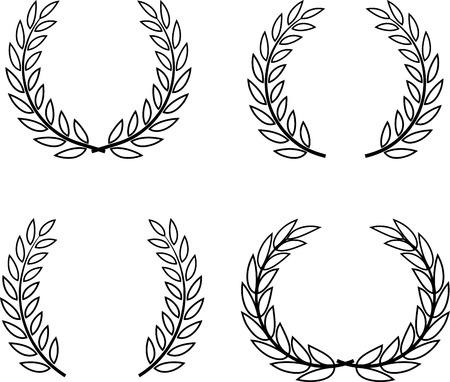 Laurel Wreaths Vector Isolated