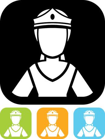 Princess vector icon Ilustração