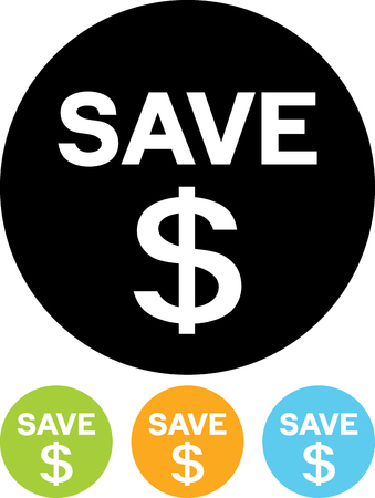 Save your money vector icon 向量圖像
