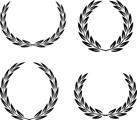 Laurel Wreaths Vector Ilustração