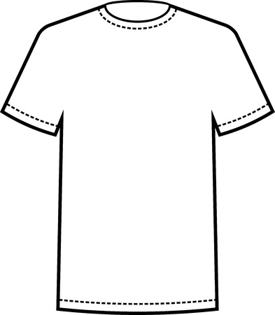 blank white t shirt template vector royalty free cliparts vectors