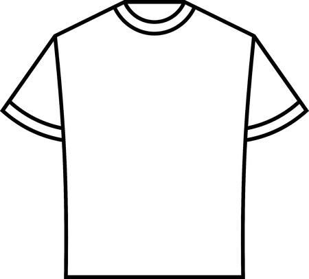 Blank T-shirt Template Vector Royalty Free Cliparts, Vectors, And ...