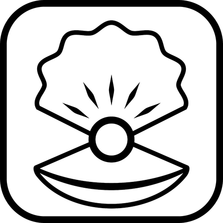 Pearl in shell vector Illustration