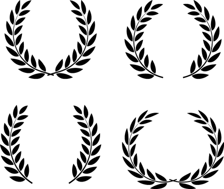 Laurel wreaths set vector isolated Reklamní fotografie - 52870395