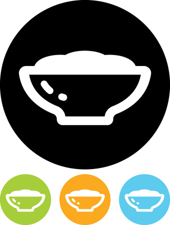 Meal dish - Vector icon isolated