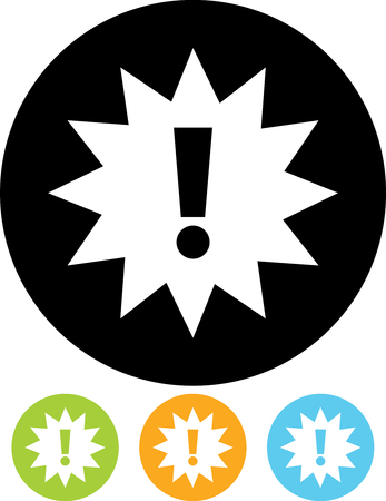 Exclamation mark sign attention icon  Vector