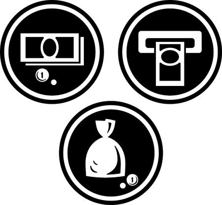 Cash money atm cashpoint - Vector icons