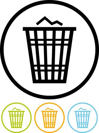 Vector trash basket icon Illusztráció