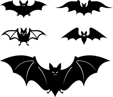 Cartoon style vampire bats  Vector illustration