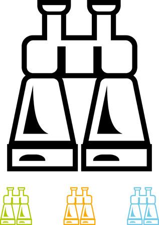 Binoculars  Vector icon Ilustracja