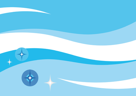 Blue water waves abstract vector background Illustration