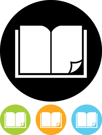 Open book - Vector icon isolated