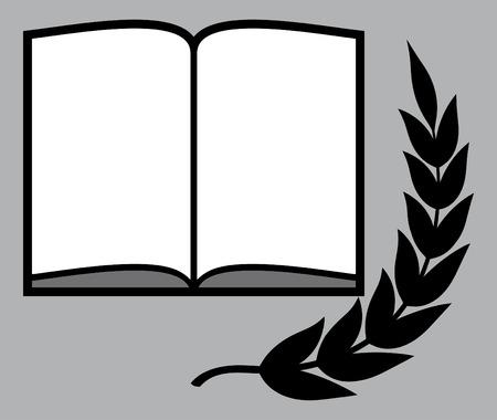 Open book literature vector