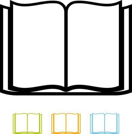 開いた空本ベクトル分離  イラスト・ベクター素材