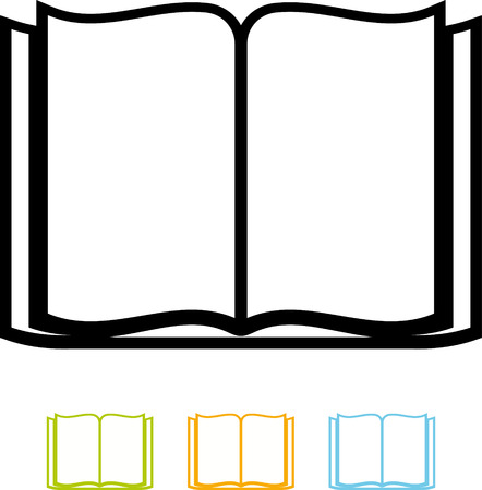 Open blank book vector isolated