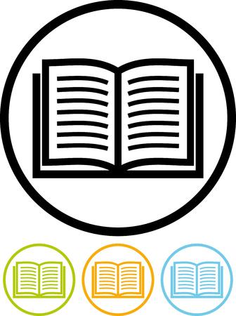 Wektor ikonę samodzielnie na białym - Book Ilustracje wektorowe