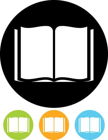 開かれた本のベクトルのアイコン  イラスト・ベクター素材