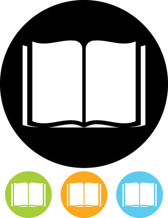 Open Book - Vector icon Vettoriali