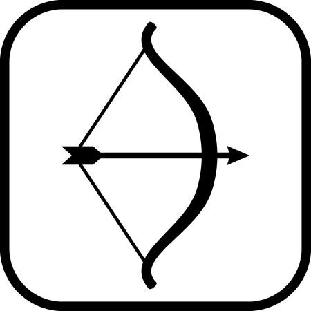 Arco y flecha - icono del vector aislado