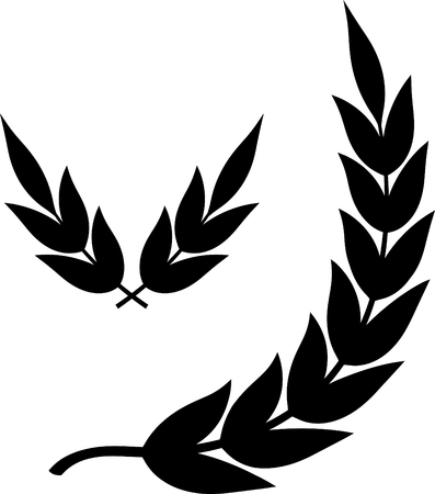 Laurel branches leaves wreath - Vector