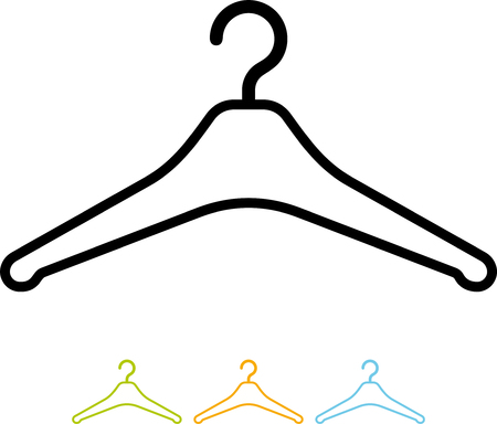 Clothes hanger vector icon isolated Ilustracja