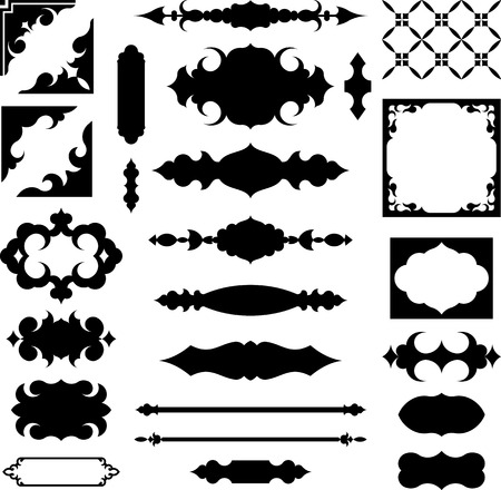 Set of vector shapes and design elements Illustration