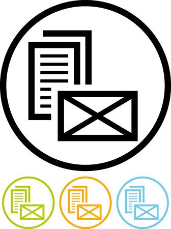 紙手紙メッセージ封筒 - 分離ベクトル アイコン