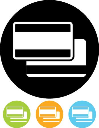 Debet bank betaalkaarten vector icon Stock Illustratie