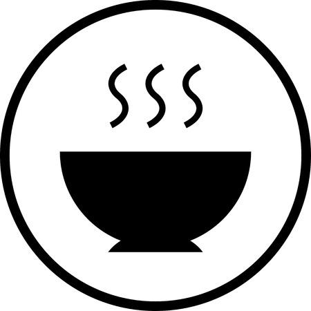 Repas chaud vecteur bol alimentaire icône