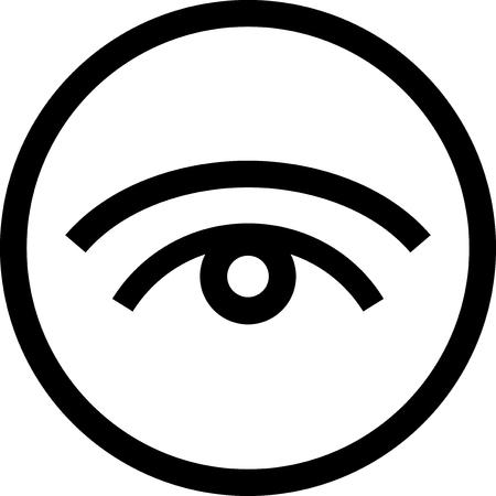 Eye - vecteur icône isolé Vecteurs
