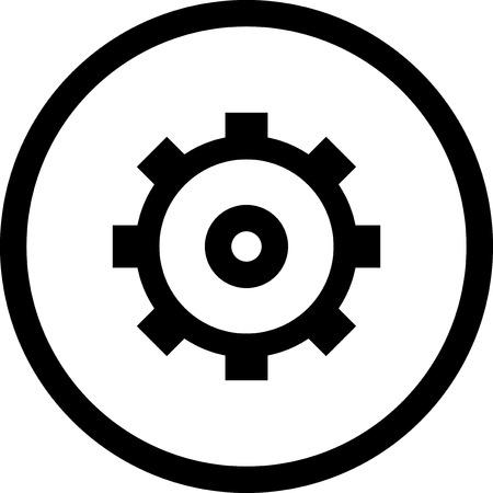 Rueda de engranaje - icono del vector aislado