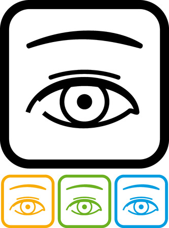Eye iris eyebrow - Vector icon isolated Illusztráció