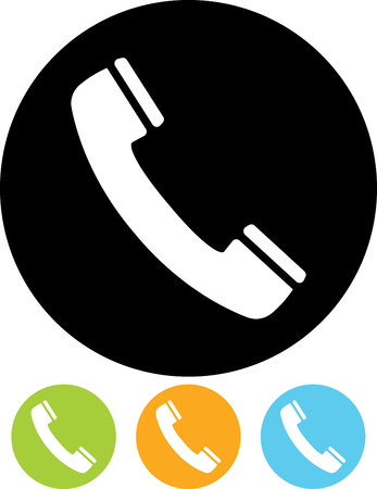 Phone receiver vector icon. Contact us  イラスト・ベクター素材