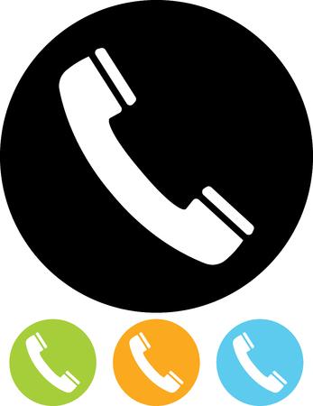전화 수신기 벡터 아이콘입니다. 저희에게 연락하십시오