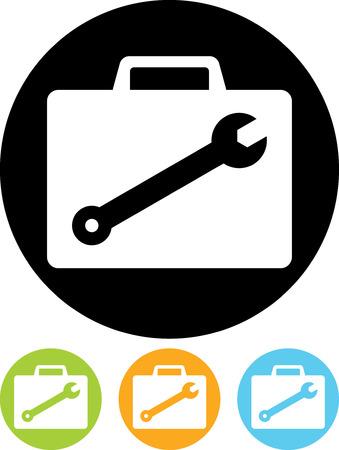 Monteur of apparatuur reparateur's koffer met gereedschap - Vector pictogram geïsoleerde Vector Illustratie