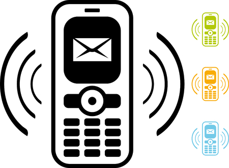 Mobile phone icon new message email alert
