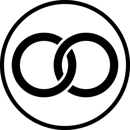 Anelli di nozze - icona di vettore isolata