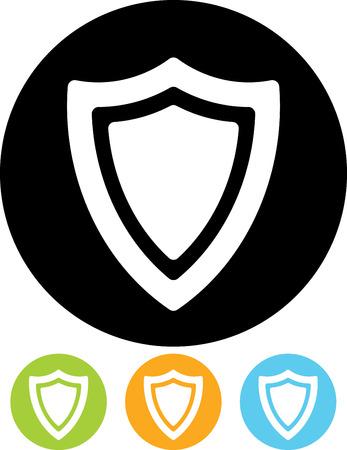 Safety shield vector icon