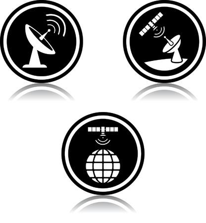 Satellite space orbital telecommunications equipment Illusztráció