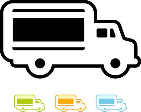Vector truck icoon