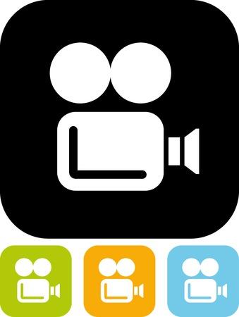 Retro movie camera - Simple vector icon