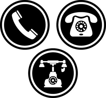 Telefoon telefoonhoorn vaste vector Stock Illustratie