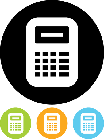 Calculator cash register- Vector icon isolated