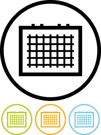Calendar timetable vector icon Иллюстрация