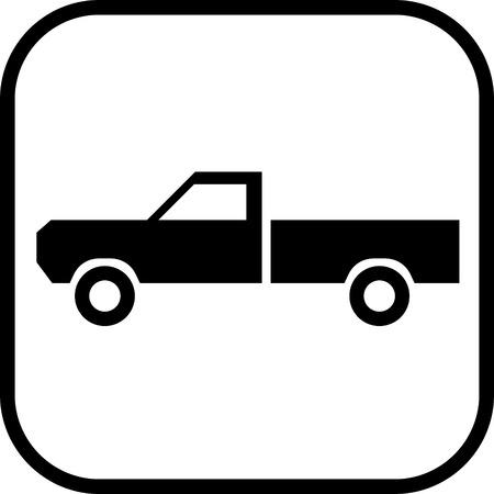 Camionnette vecteur icône Vecteurs