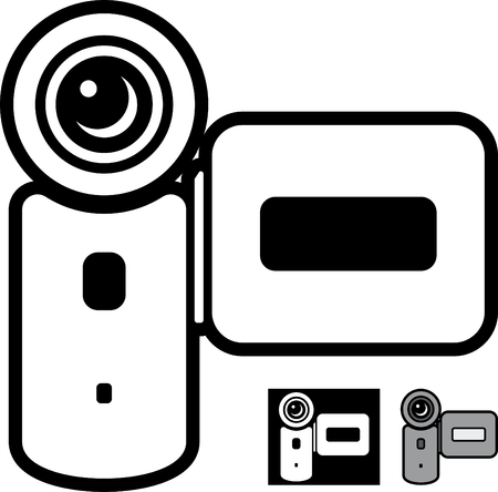 Video camera vector icon isolated