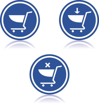 Vector winkelwagentjes iconen