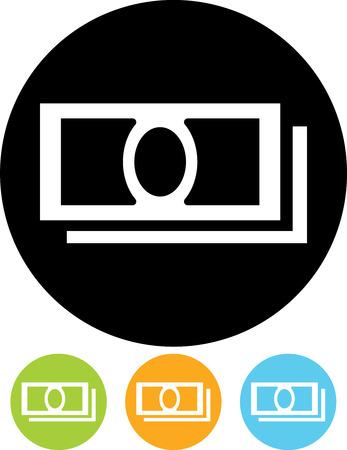 Cash geld bankbiljetten vector icon